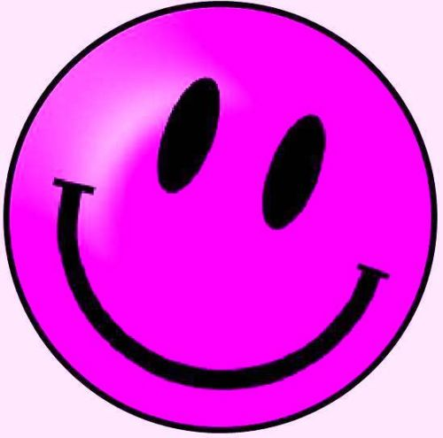 KR_SMI_PNK_SML Pink Smiley (Small)